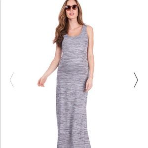 Seraphine Grey Marl Maternity Maxi Dress